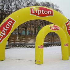 Nafukovací oblouky Lipton