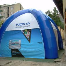 Nafukovací stan Nokia
