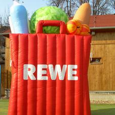 Nafukovací nákupní taška REWE