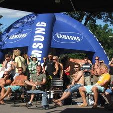 Nafukovací stany Samsung