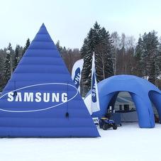 Nafukovací pyramida Samsung