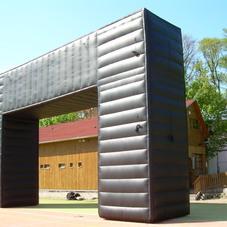 Nafukovací hranatá brána
