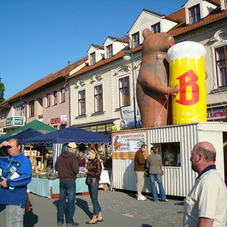 Nafukovací medvěd Berounský pivovar