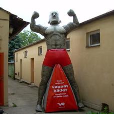 Nafukovací maskot Stoneman