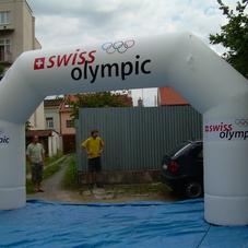Nafukovací oblouk Swiss Olympic