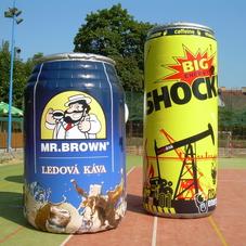 Nafukovací plechovky Shock a Mr. Brown