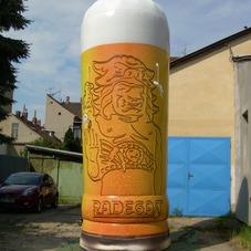 Nafukovací sklenice Radegast