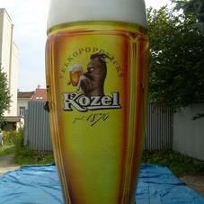 Nafukovací sklenice Kozel