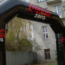 Nafukovací oblouk Coca Cola