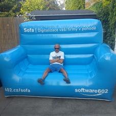 Nafukovací sedačka Software 602