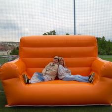 Nafukovací sedačka oranžová