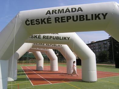 Nafukovací oblouky Armáda České republiky