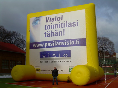 Nafukovací billboard Visio