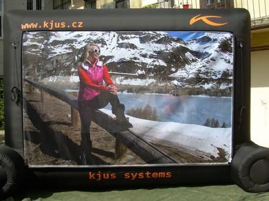 Nafukovací billboard Kjus